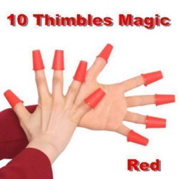 10 Ditali magici (Rossi) - Magic Thimbles