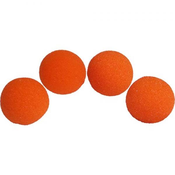 1.5 inch Regular Sponge Balls (Orange) Pack of 4 f...