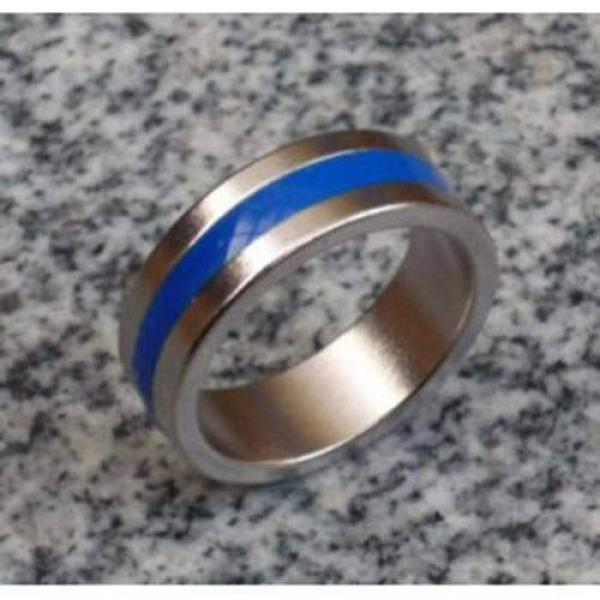 Magnetic Engraved PK Ring (Blue,Deluxe) - 19 mm
