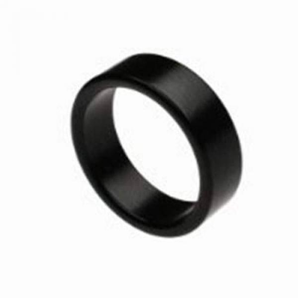 Wizard PK Ring (Black, Flat Band) - 18 mm