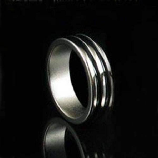 Magnetic Engraved PK Ring -18mm - Silver and Black