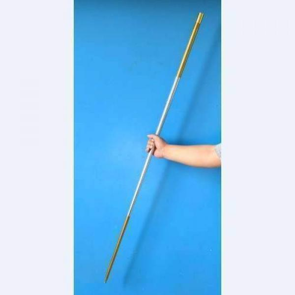 Appearing Long Cane - Gold and Silver- Metal (1.4m -1.5m)