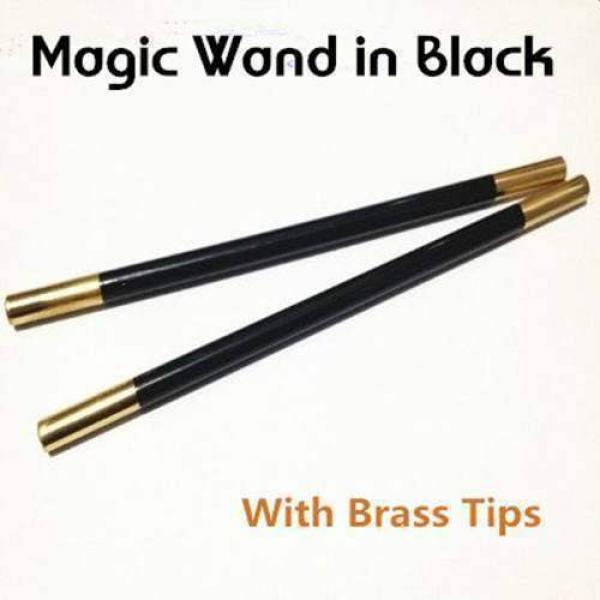 Magic Wand in Black (With Brass Tips) - stainless ...