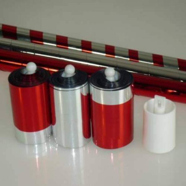 Triple Color Change Cane (Silver-Red-Silver/Red)