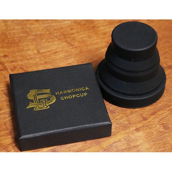 Harmonica Chop Cup Black 2 (Silicon) by Leo Smetse...