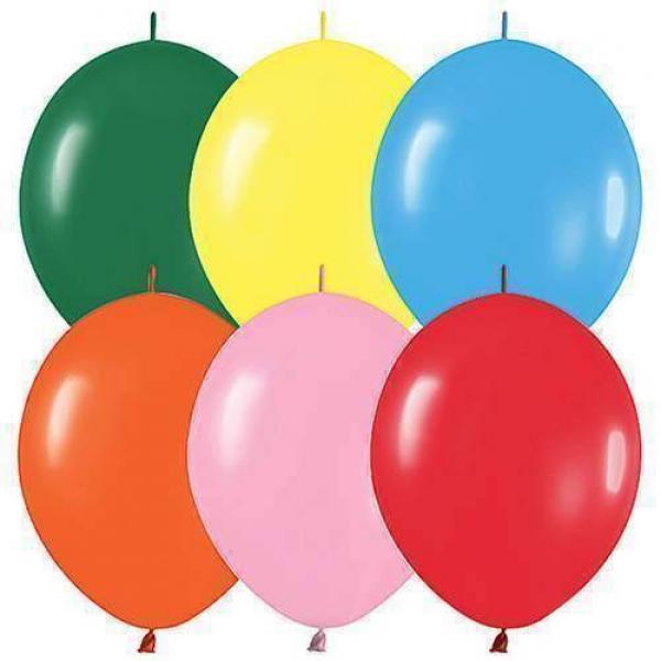 Link Balloons 32 cm - 100 pieces (Fuxia)