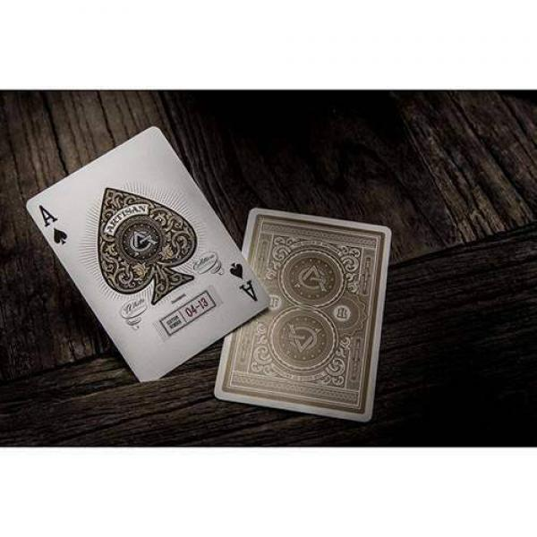 White Artisans Deck by Theory11 - with SOLOMAGIA Card Bag