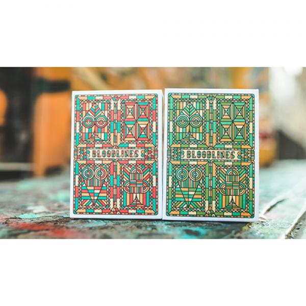 Bloodlines (Emerald Green) Playing Cards by Riffle...
