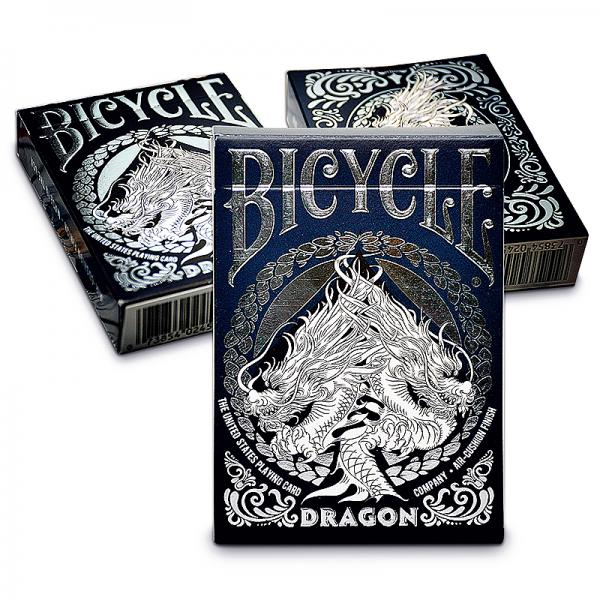 Bicycle - Dragon Playing Cards - with SOLOMAGIA Card Bag