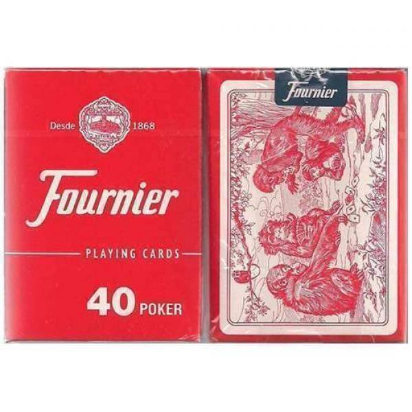 Fournier N.40 (standard index) - red back