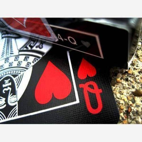 Mazzo di carte Bicycle - Black Deck Tiger Red by Ellusionist