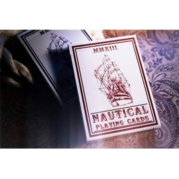 Nautical Playing Cards (Red) by House of Playing C...