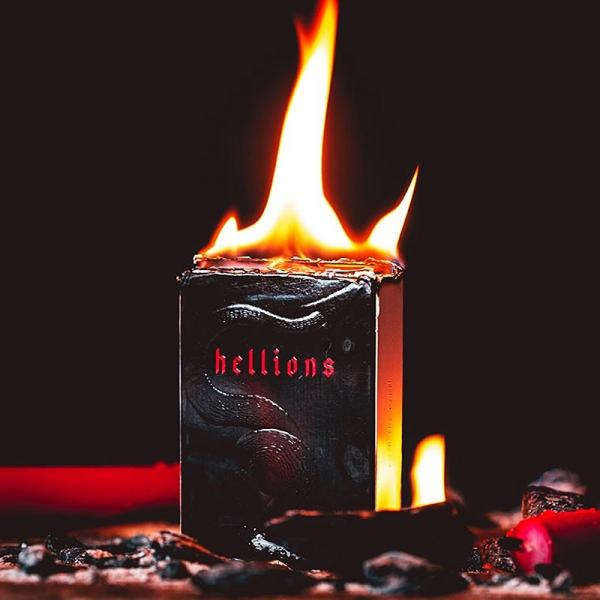 Mazzo di carte Red Hellions Playing Cards - Black Tuck