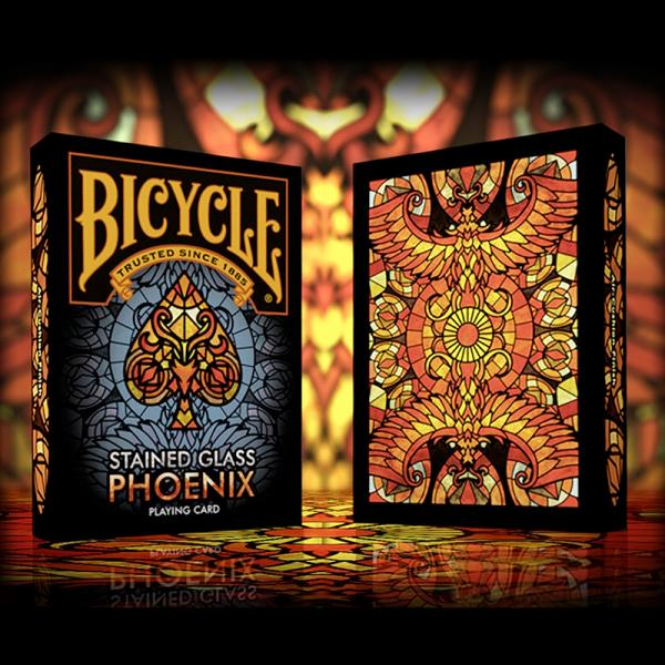 Bicycle - Stained Glass Phoenix Playing Cards