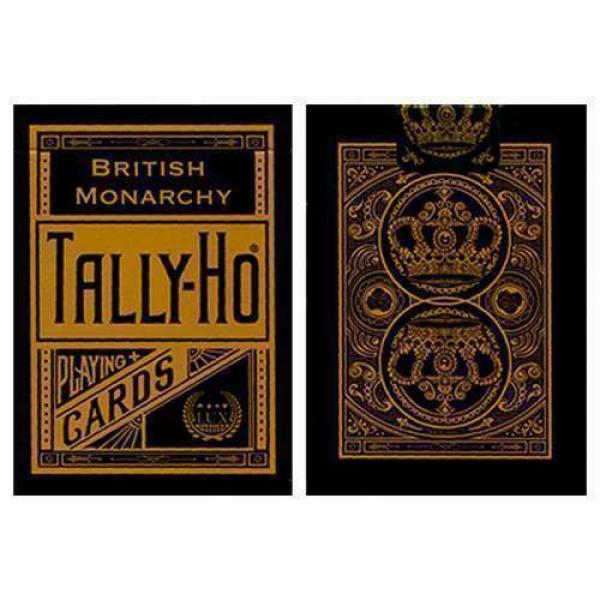 Tally Ho British Monarchy Playing Cards - Black - ...