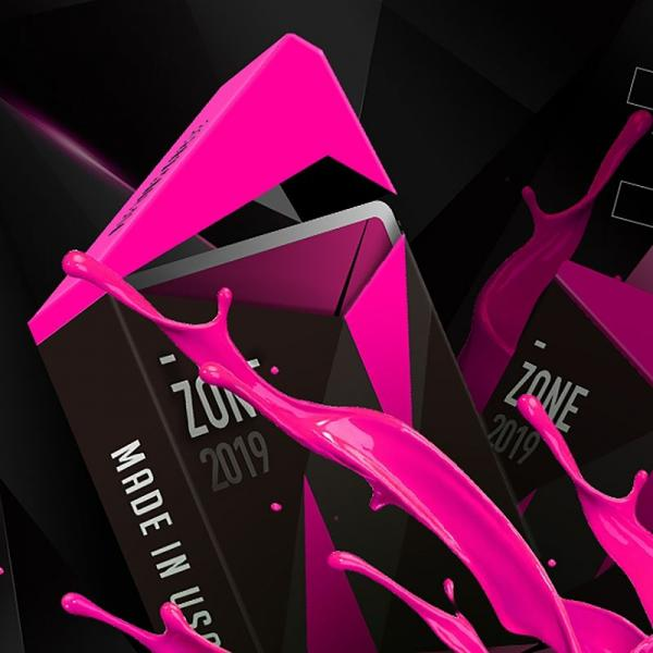 ZONE Playing Cards V2 Pink by Bocopo