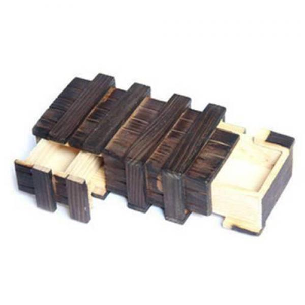 Magic Wooden Puzzle Box w 2 Secret Drawer