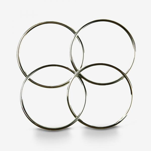 Deluxe 11.5 cm Linking Rings (Set of 4, Chrome) by...