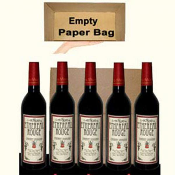 Appearing Five Wine Bottles From Empty Paper Bag