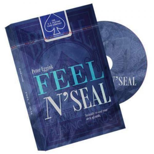 Feel N' Seal Blue by Peter Eggink - DVD and Gimmick