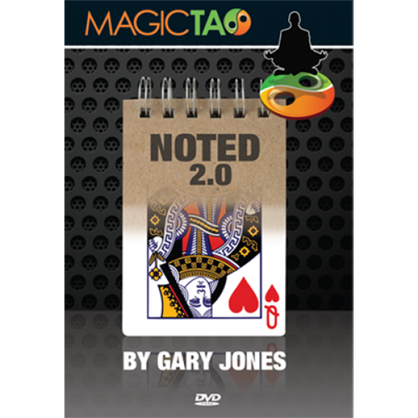 Noted 2.0 Red (DVD and Gimmick) by Gary Jones and Magic Tao