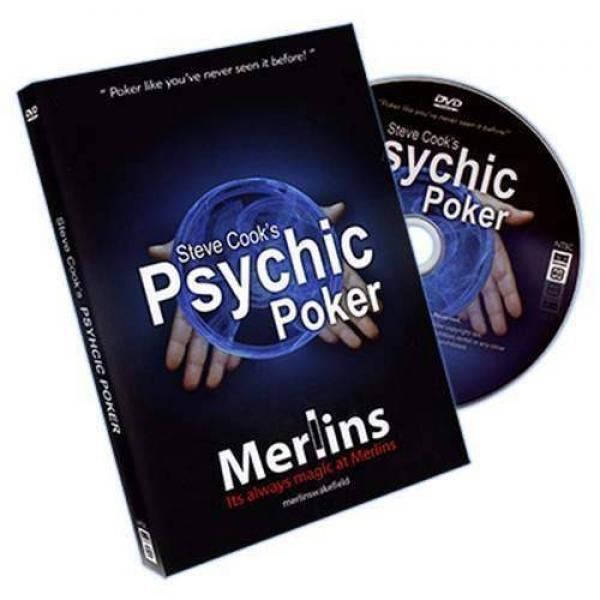 Psychic Poker by Steve Cook - DVD and Special Bicycle Cards