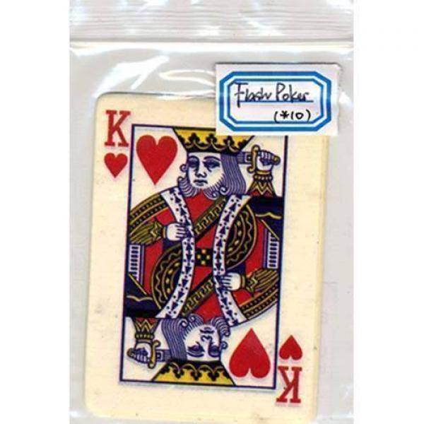 Carta Lampo Re di Cuori - Flash Poker Card King of...
