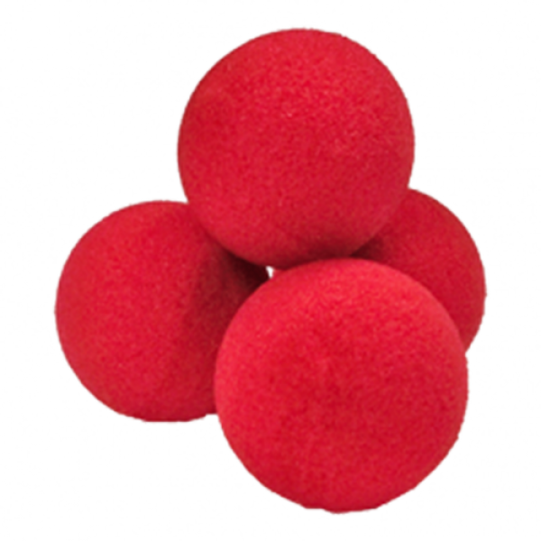 Soft sponge balls - Set of 4 balls 4.0 cm - Red