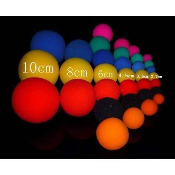 Palline di spugna 2.5 cm - 6 unità di colori assortiti