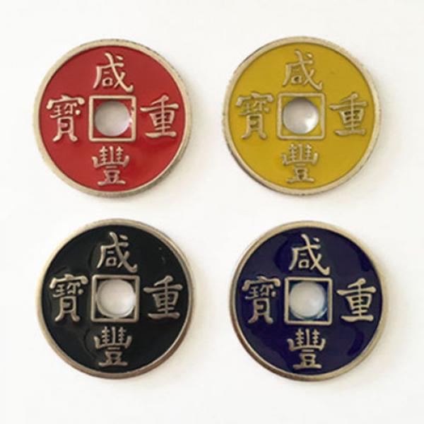 Chinese Coin (Xianfeng, Half Dollar Size, Yellow)