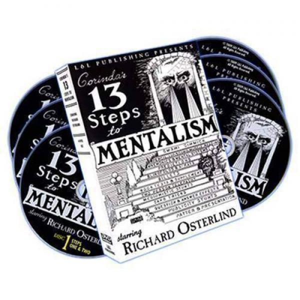 13 Steps To Mentalism (6 DVDs) by Richard Osterlin...