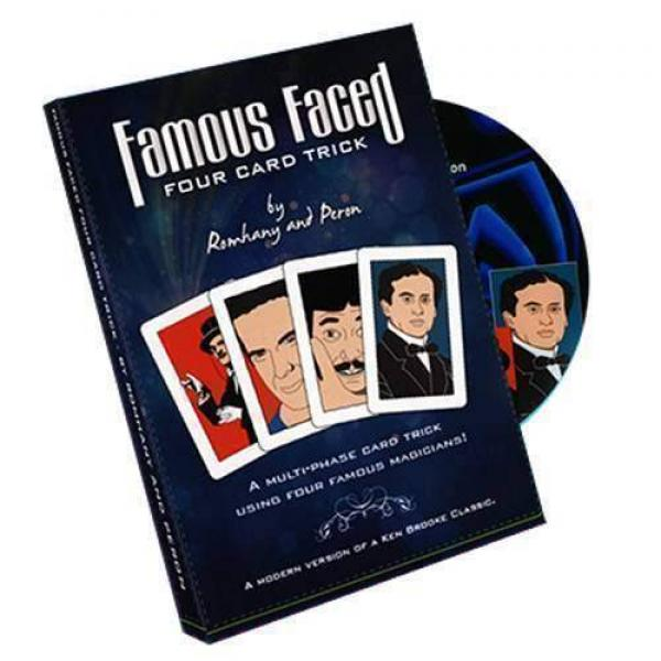 Famous Faced - Four Card Trick by Paul Romhany - D...