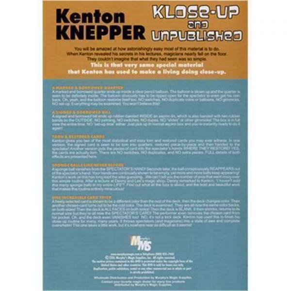 Klose-Up And Unpublished by Kenton Knepper - DVD