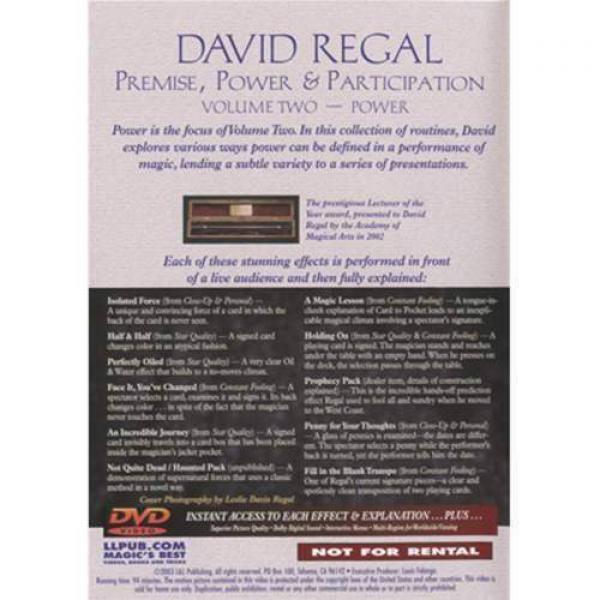 Premise Power & Participation Vol. 3 by David Regal and L & L Publishing - DVD