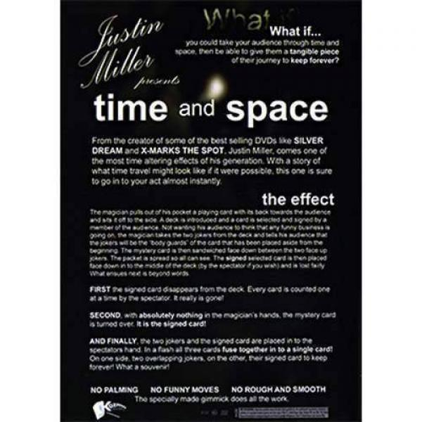 Time and Space by Justin Miller - DVD and Gimmick Cards