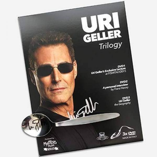 Uri Geller Trilogy (3 DVD set only) by Uri Geller and Masters of Magic