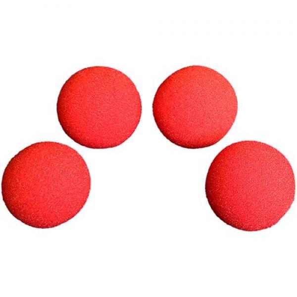 1.5 inch Super Soft Sponge Balls (Red) Pack of 4 f...