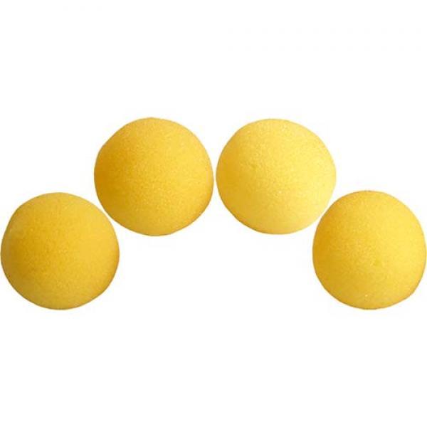 1 inch Super Soft Sponge Ball (Yellow) Pack of 4 f...