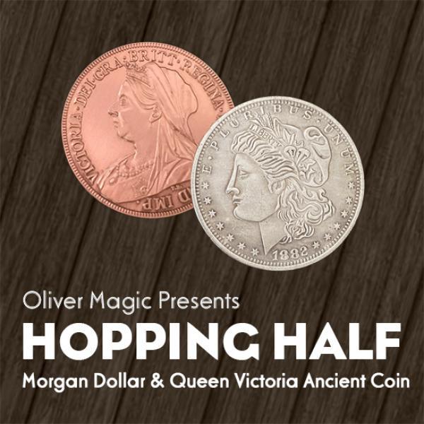 Hopping Half (Morgan Dollar and Queen Victoria Anc...