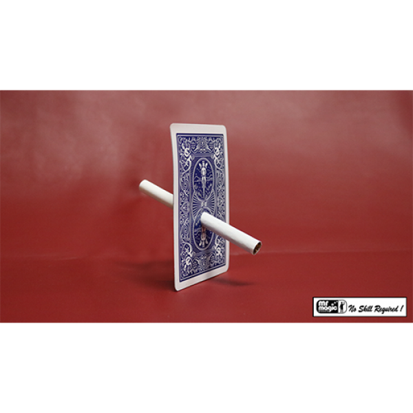 Cigarette Through Card - Bicycle Back by Mr. Magic