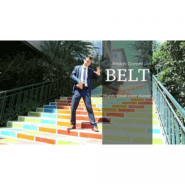 BELT (White) by Jordan Gomez - Video and Gimmick