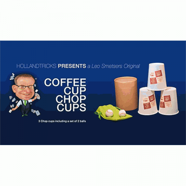 Coffee Cup Chop Cup (3 cups and 2 balls) by Leo Smetsers