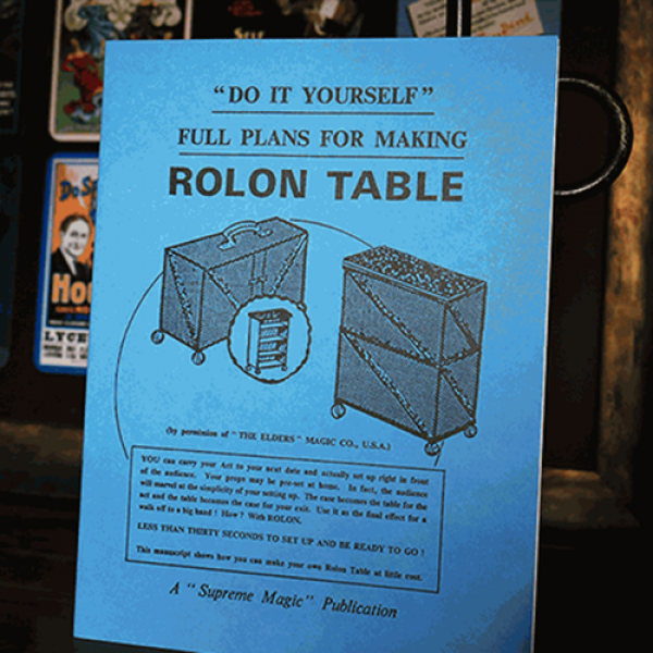 Plans for the Rolon Table - Libro