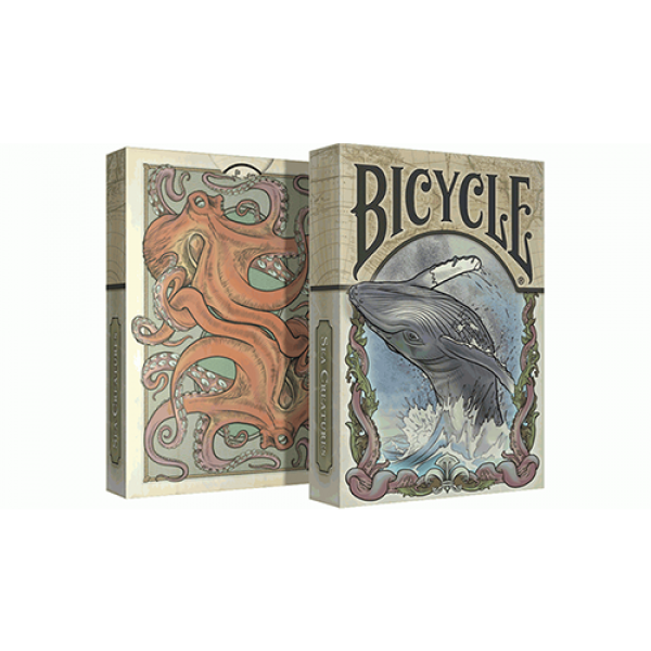 Sea Creatures Deck (Bicycle Colorized) Playing Car...