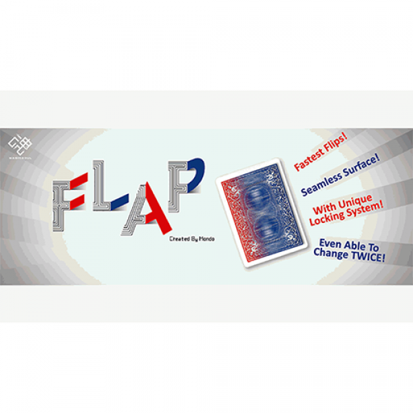 Modern Flap Card (Face to Blue Back) by Hondo