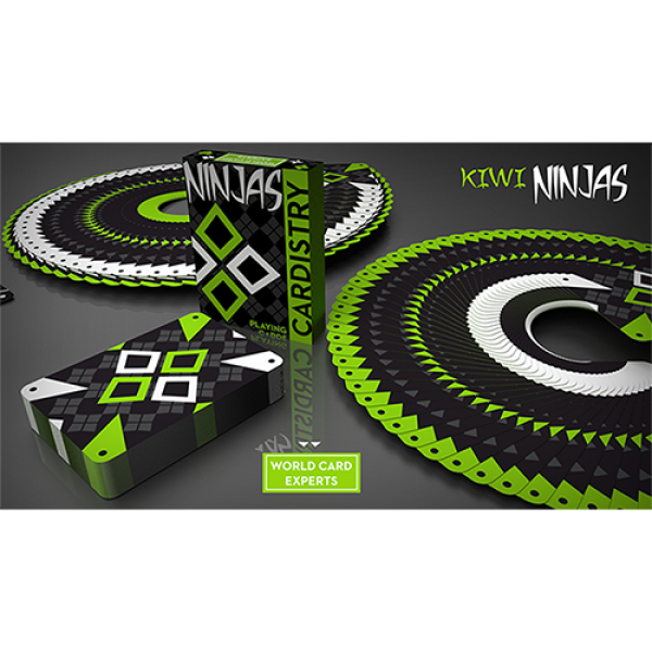 Cardistry Kiwi Ninjas (Green) Playing Cards by Wor...