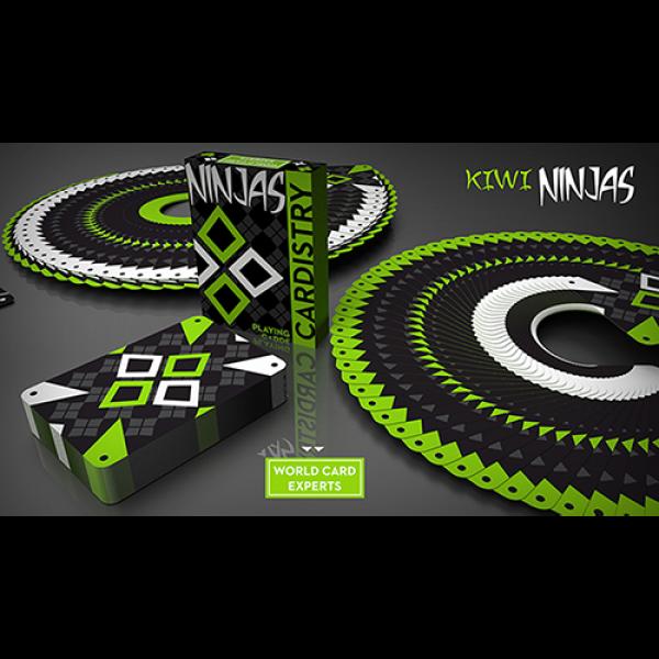 Mazzo di carte Cardistry Kiwi Ninjas (Green) Playi...