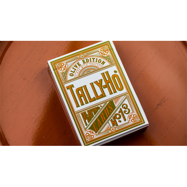 Mazzo di carte Olive Tally Ho Playing Cards by Jac...