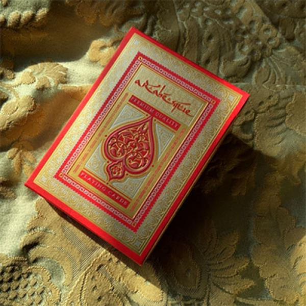 ARABESQUE Playing Cards - Player's Edition (Red) b...