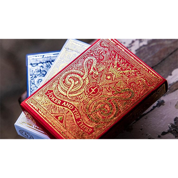 Blood Red Edition Playing Cards by Joker and the T...
